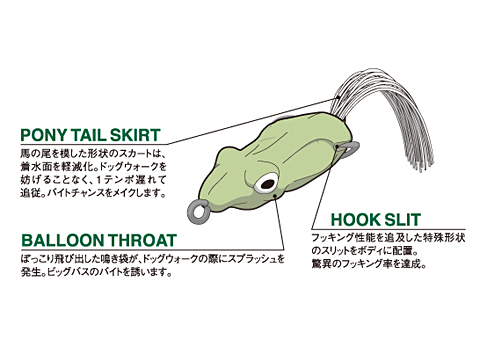 pony frog megabass メガバス