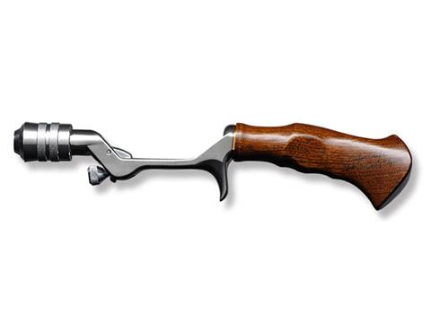 Vintage Silver & Teak Wood Grip